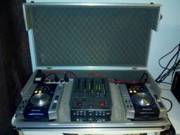 Case completo - CDJ + Mixer