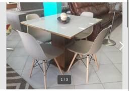 Mesa em laca com 4 cadeiras direto da fábrica só 999,00 entrego