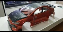 Bolha Mitsubishi Lancer EVO Rally - escala 1/10