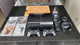 Console PS3 Completo, com controles e jogos