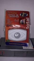 Sensor De Presença Total 2x1 Teto E Parede Fotocelula Bivolt<br><br>