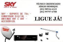 SKY, Sinal Digital e Suportes de TV