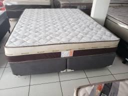 ::Conjunto Cama Box Colchao Ortosleep Queen (158x198) A Pronta Entrega;;