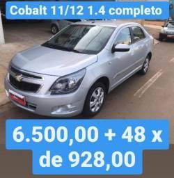 Cobalt 11/12 1.4 completo 6.500,00 mais 48x de 928,00