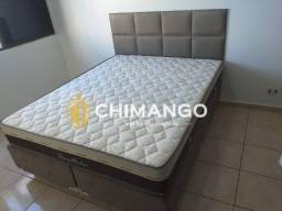 ::: Conjunto Cama Box Colchão Sleep pocket casal 138 Ortosleip Espuma Selada firme