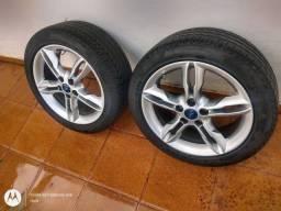Rodas do Focus aro 17 pneus Pirelli