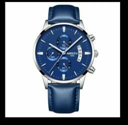 Relógio Nibosi Azul + óculos Polarizado