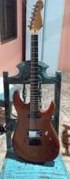 Guitarra em Mogno madeira inteira