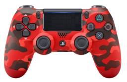 Controle ps4 sony original sem fio cuh-zct2u camuflagem vermelha - ananindeua aurá