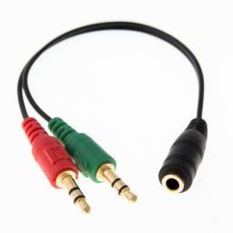 Cabo Adaptadpr P2 Para Headset P3 X 2 P2