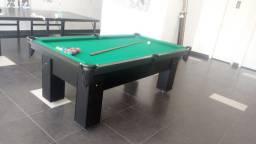 Mesa de Bilhar Charme Preta Tx Tecido Verde Modelo LFK6151