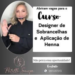Curso: Designer de sobrancelhas e aplicação de Henna