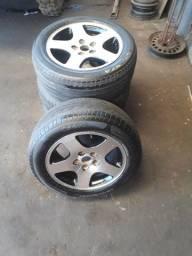 Rodas com pneus Aro 16 furação GM do opala