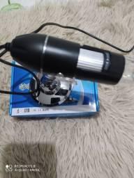 Microscópio USB 2.0 50 a 1600 x 8 ledes