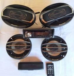 Rádio Cd Pioneer + auto falantes