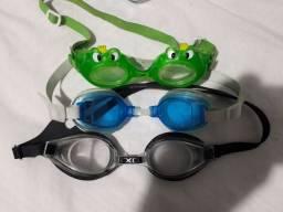 Três óculos para natação infantil por APENAS 30 reais
