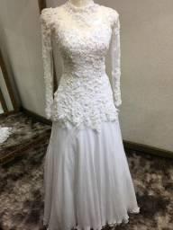 Vestido de noiva semisereia