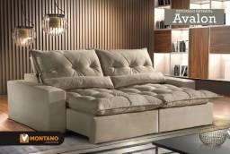 Sofá Retrátil e Reclinável Avalon V333