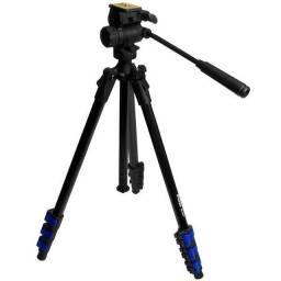 Tripé Weifeng WF-5316 de 1.615 cm para Câmeras DSLR - Preto / Azul