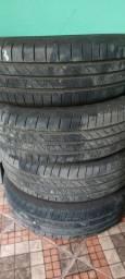 4 pneus continental 185/65 r15 rodados menos 300km 2 meses de uso