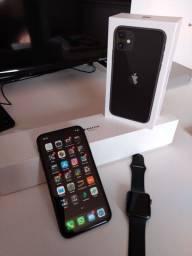 iPhone 11 preto 64gb + Apple watch 3 42mm