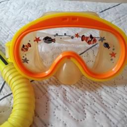 Kit mergulho infantil, Intex, ótimo estado