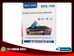 Amplificador De Áudio Com Bluetooth Gol-705