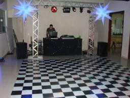 Som Profissional, iluminação, Telão e DJs