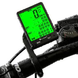 Velocimetro bike bicicleta ciclismo digital odometro com luz noturna