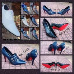 Revenda Sapato feminino e masculino sofisticados e diferenciados de couro legítimo