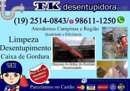 Desentupidora de Caixa de Gordura em Campinas e Região (19) 2514-0843