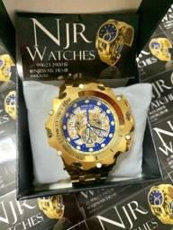 Relógio invicta venom skeleton azul marinho novo