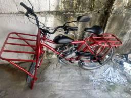 Bicicleta motorizada muito novo