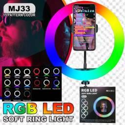 Ring light com tripé  2M colorido novidade