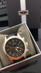 relógio invicta masculino banhado a ouro 18k 100% original