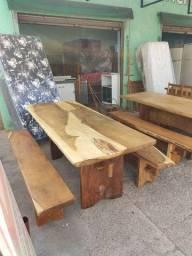 Mesa de madeira garapa Pranchão de 2 metro (parcelamos no cartão)