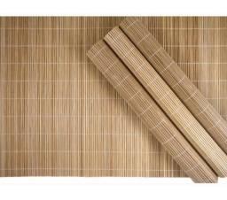 Jogo bambu rustico natural 4 peças