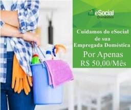 Folha de Pagamento Doméstica por R$50,00 mensais