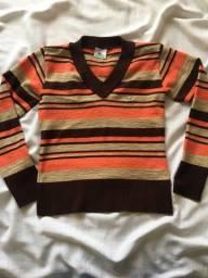 blusa suéter da lacoste -de lã