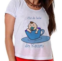 Camisa chá de bebe