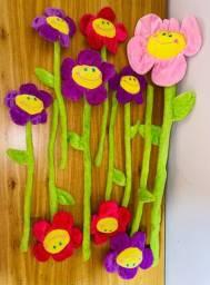 Flores de Pelúcia Decorativas