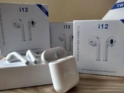 Fone de ouvido sem fio i12 Bluetooth / dia dos namorados