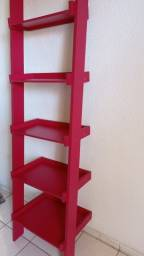 Estante de madeira vermelha Ipanema Spaceo