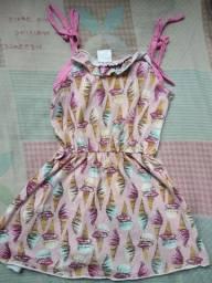 Vestido de verão sorvetinho