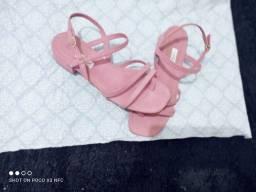Sandália rosa bebê 39