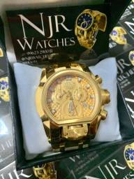 Relógio invicta magnum banhado novo top