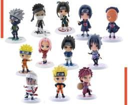 Kit Bonecos Naruto Classico e Shippuden Chibi 12 peças NOVO!
