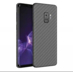Película Traseira Fibra Carbono Samsung Galaxy S9+ Plus Adesivo