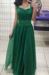 Vestido de Festa ( Verde esmeralda)