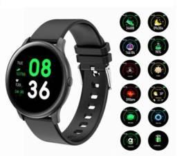 Smartwatch D18 Monitor Cardíaco, Pressão, Notificação<br><br>ENTREGA GRÁTIS